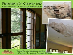 2017 - Kilaremo - Instandsetzung Dächer und Zwischendecken