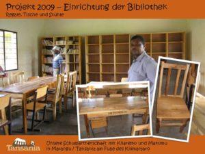 Projekt 2009 - Einrichtung der Bibliothek