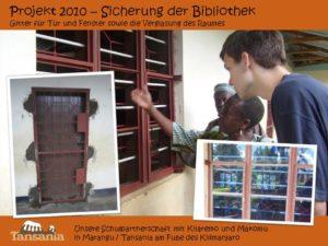 Projekt 2010 - Sicherung der Bibliothek