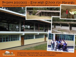 Projekt 2010/2011 - Eine High School für Marangu
